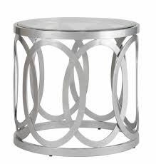 small round silver accent table designs