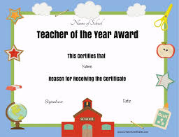 Teacher Appreciation Gift Certificate Template
