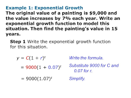 exponential growth function formula example 1 3a see endearing