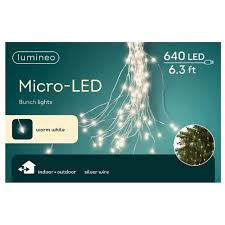 Led Micro Lights Bunch 6 Foot Warm White Micro Led Bunch Christmas Lights Indoor Outdoor 640 Lights