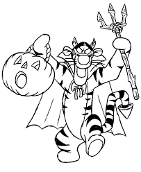 Small Picture Halloween Coloring Pages For Kids Disney Hallowen Coloring pages