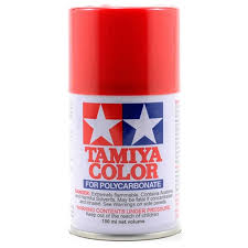 Tamiya Ps Paint Chart Tamiya Ps 2 Red Lexan Spray Paint 3oz