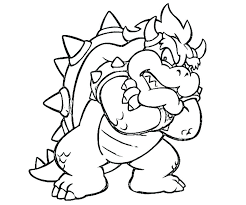 Cat Bowser Coloring Pages Super Mario Bowser Coloring Pages To Print