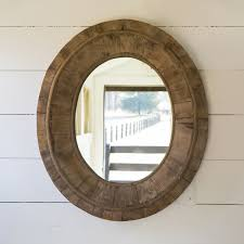 oval mirrors for bathroom. Reclaimed Wood Oval Mirror | Shop P. Allen Mirrors For Bathroom