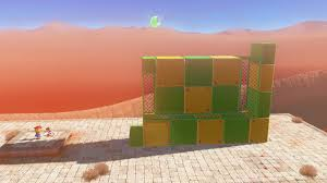 in the far northwest corner of the sand kingdom reachable via a cable attached to the top of the inverted pyramid you ll find a structure with a scarecrow