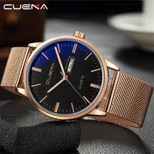 CUENA Luxury Fashion Men Watch Stainless Steel Business ...