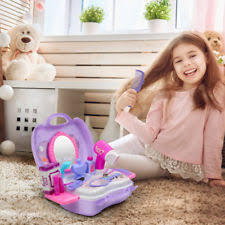 21pcs pretend play set hair dryer makeup play house toy beauty fashion for s