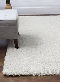 white shag rug. Ivory White Shag Rug, 8-Feet By 10-Feet, 8x10 Stain- Rug V