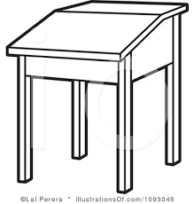 student desk clipart black and white. pin desk clipart black and white #1 student k