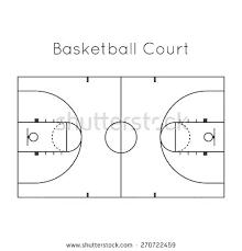 High School Basketball Court Template Basketball Court