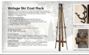 Standing Ski Coat Rack Vintage Ski Coat Rack Tradingbasis 9