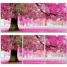 53x114cm sakura cherry blossom trees diy cross stitch embroidery