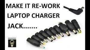 Dc Power Plug Size Chart Fix And Repair Broken Laptop Power Cord Charger Pin By Innovative Ideas