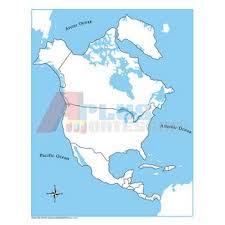 gЕ Контрольная контурная карта Северной Америки картонная не  gЕ005 2 Контрольная контурная карта Северной Америки картонная не подписанная