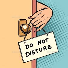 Image result for do not disturb sign cartoon