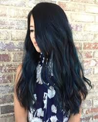 Blue Black Hair How To Get It Right Blue Highlights Long Black