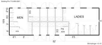 Building Floor Plan, 16-x-52 Double Shower