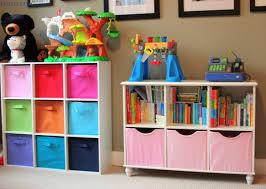 Image of: Creative Sling Bookshelf with Storage Bins