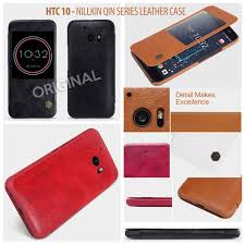 htc 10 nillkin qin leather flip book window cover case sarung kulit