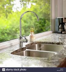 Detail Of Kitchen Sink With Granite Countertop Victoria Vancouver