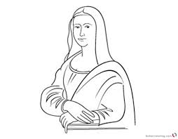 Mona Lisa Coloring Pages Line Art Clipart Free Printable Coloring