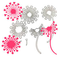 Paper With Flower Border Us 2 43 30 Off Diy Scrapbooking Heart Dandelion Flower Border Metal Cutting Dies Craft Embossing Stamps Stencils Paper Card Making Template In