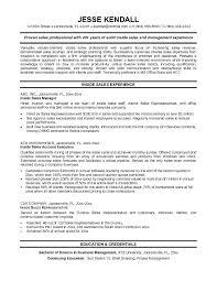 Sample Outside Sales Resume Sales Resume Template Wikirian Com