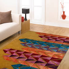 designer modern city hand tufted wool silk rug