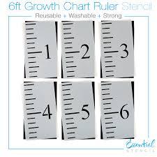 Diy Growth Chart Stencil 6ft Growth Chart Ruler Stencil Growth Chart Ruler