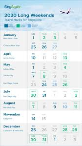 Chinese Calendar January 2020 Singapore Public Holidays 2020 Long Weekends Singsaver