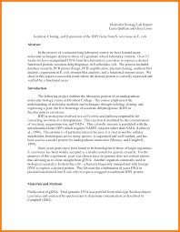 Example Of A Lab Report Sample Lab Report Biology Template Maggi Locustdesign Co Ib Example