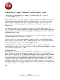 Orlando Catering Company Bubbalou's Debuts New Summer Special ...