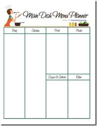 monthly meal planner template monthly menu planner an editable pdf