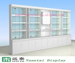 Free Standing Display Cabinets Modern Factory Direct Sale Wall Free Standing Glass Display 5