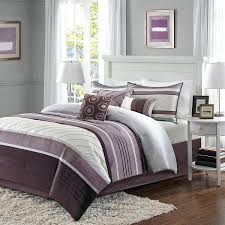 plum comforter ivory striped queen set lavender purple bedding sets canada