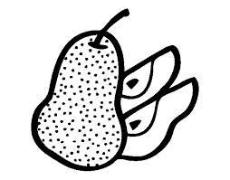Small Picture Pear cut coloring page Coloringcrewcom