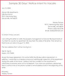 intent to vacate er template sle days notice apartment exle 30 day tenant letter of