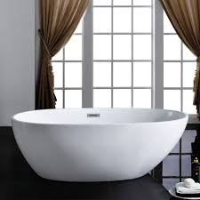 cosmo 66 x 33 white oval soaking bathtub by pacific collection