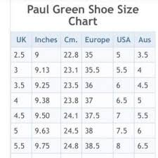 Paul Green Shoe Size Chart Paul Green Sliced Leather Booties