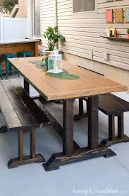 this easy to build picnic table is perfect for a large family gathering the dining