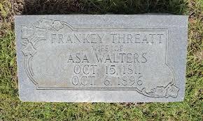 Frances Walters (Threatt) (1811 - 1896) - Genealogy