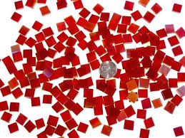 cherry red mosaic tile hand cut from spectrum stained glass red mosaic tile red mosaic