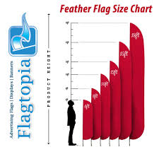 Flag Size Chart Custom Message Flags