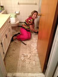 replace bathroom suloor