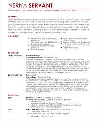 Waitress Resume Template Waitress Resume Template 6 Free Word Pdf