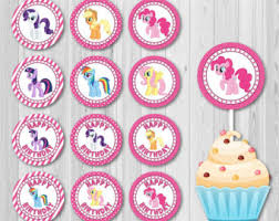 Small Picture My Little Pony Centerpiece Printable PERSONALIZED Digital File