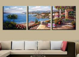 3 pieces mediterranean landscape handpainted oil painting canvas wall art decor for living room wholesale is on mediterranean canvas wall art with 3 pieces mediterranean landscape handpainted oil painting canvas