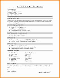 Fresh Resume Format For Free Mca Fresher Resume Format Elegant