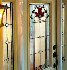 stained glass entry door with sidelights