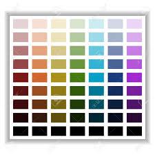 Color Palette Color Shade Chart Vector Illustration
